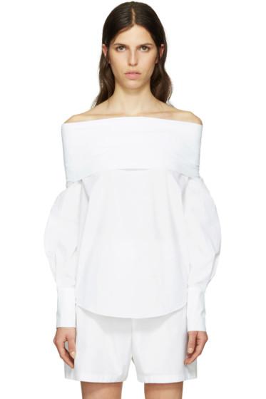 Emilio Pucci - White Off-the-Shoulder Blouse