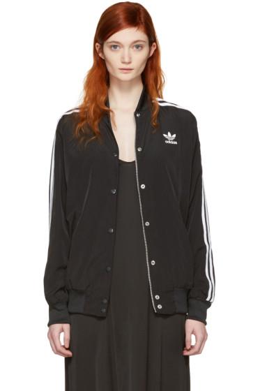 adidas Originals - Black Trefoil Logo Bomber Jacket