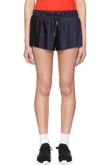 adidas Originals - Navy adicolor Pleated Shorts