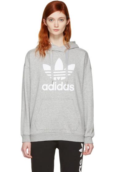 adidas Originals - Grey Trefoil Logo Hoodie