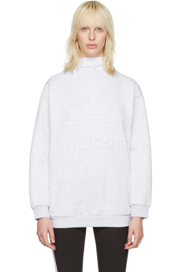 adidas Originals - Grey Standing Collar Pullover
