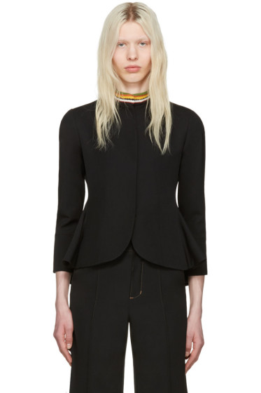 Wales Bonner - Black Cropped Cane Jacket