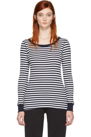 Hyke - Navy & White Border T-Shirt