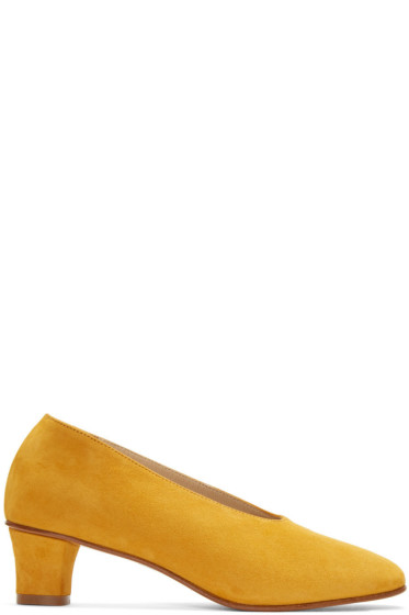 Martiniano - Yellow Suede High Glove Heels