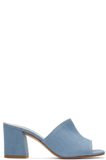 Maryam Nassir Zadeh - Blue Denim Mar Mules