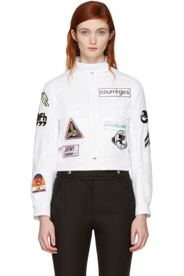 Courrèges - White Short Patches Jacket