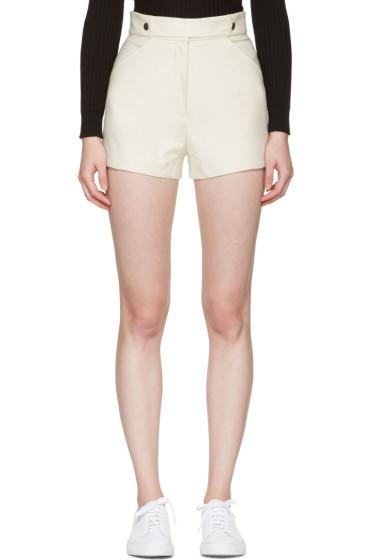 Courrèges - Ivory Button Belt Shorts
