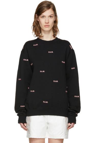 Perks and Mini - Black Allover Logo Pullover