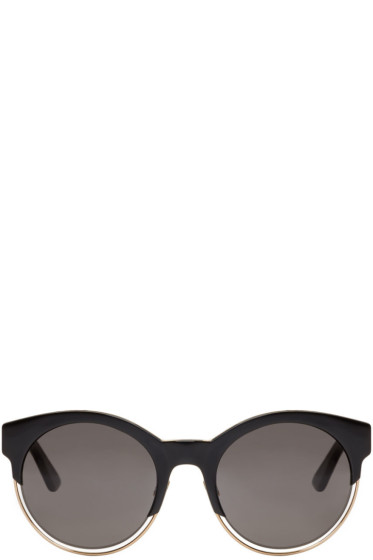Dior - Black Round Sunglasses