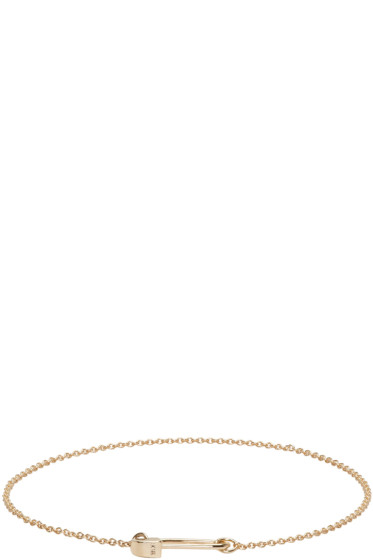 Lauren Klassen - Gold Tiny Safety Pin Bracelet