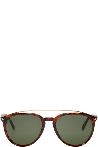 Persol - Tortoiseshell Double Bridge Sunglasses