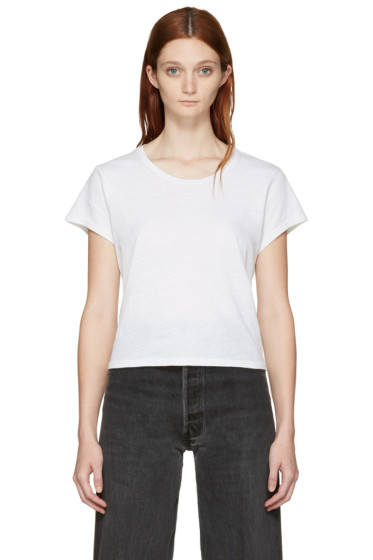 Re/Done - White 1950's Boxy T-Shirt