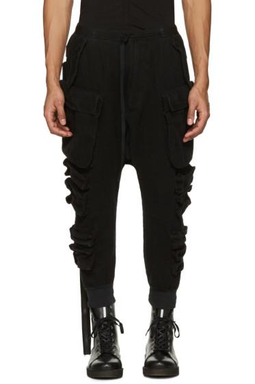 Unravel - Black Parachute Cargo Pants
