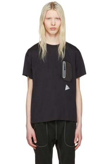 and Wander - Black Seamless T-Shirt