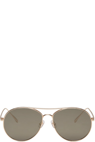 Gentle Monster - Gold Ranny Ring Sunglasses