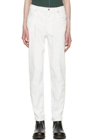 Eckhaus Latta - Off-White Corduroy EL Trousers