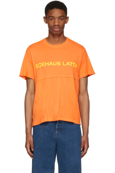 Eckhaus Latta - Orange Lapped T-Shirt