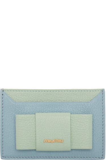 Miu Miu - Blue & Green Bow Cardholder