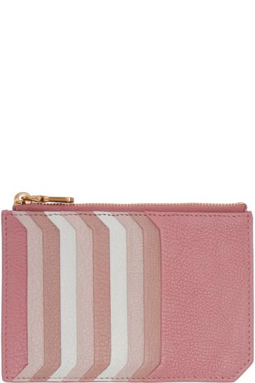 Miu Miu - Pink Multi Card Zip Pouch