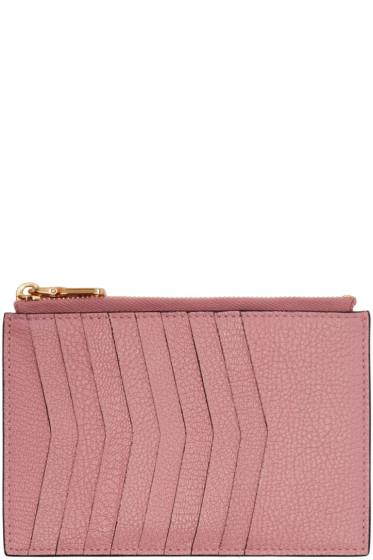 Miu Miu - Pink Heart Multi Card Zip Pouch