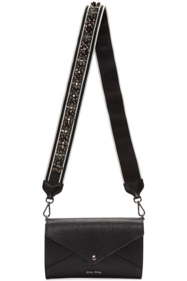 Miu Miu - Black Embellished Clutch Bag