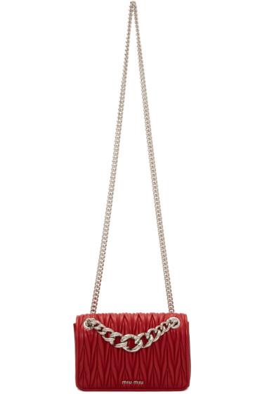 Miu Miu - Red Mini Matelassé Club Bag