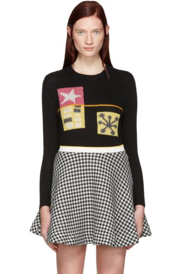 Miu Miu - Black Intarsia Molecular Sweater