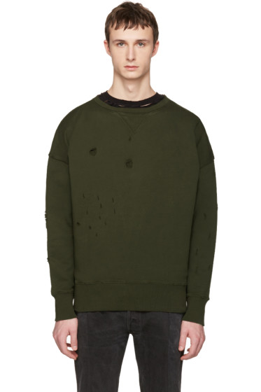 Faith Connexion - Green Distressed Pullover