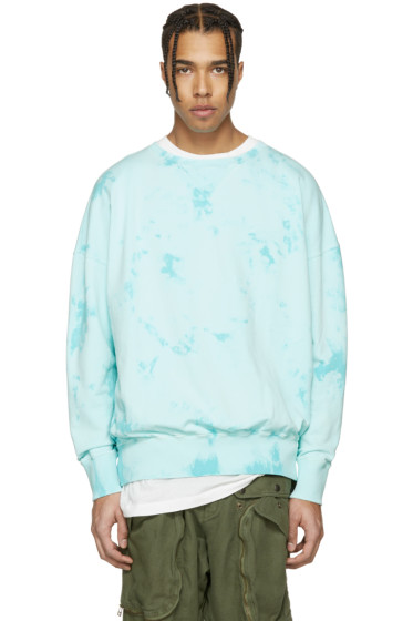 Faith Connexion - Blue Distressed Tie-Dye Pullover
