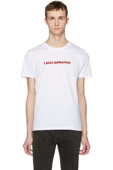 Nasaseasons - White 'I Kill Romance' T-Shirt