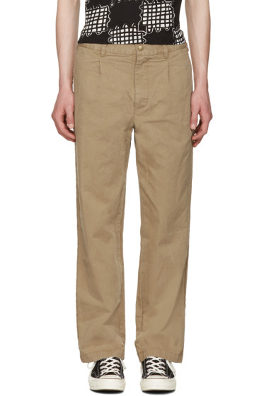 Noah NYC - Khaki Chino Trousers