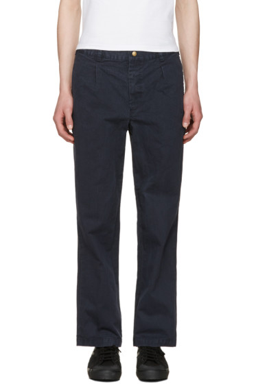 Noah NYC - Navy Chino Trousers