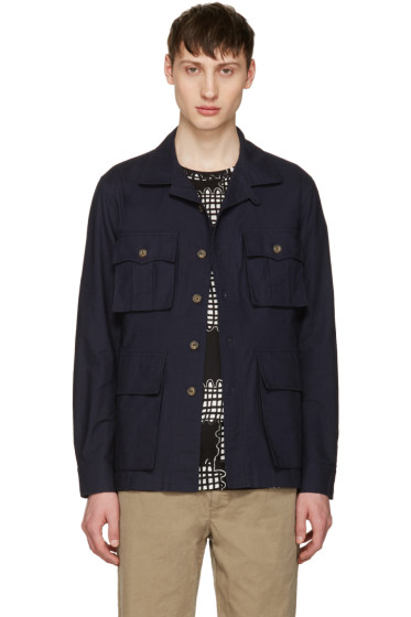 Noah NYC - Navy Safari Shirt