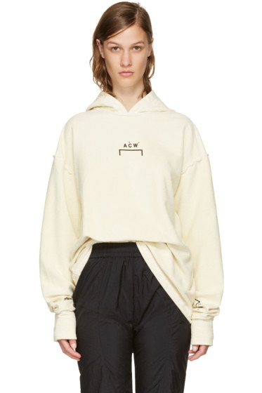 A-Cold-Wall* - Reversible Tan Oversized Logo Hoodie