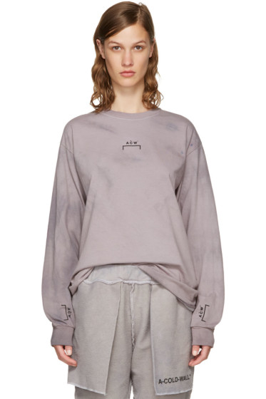 A-Cold-Wall* - Grey Long Sleeve Signature T-Shirt