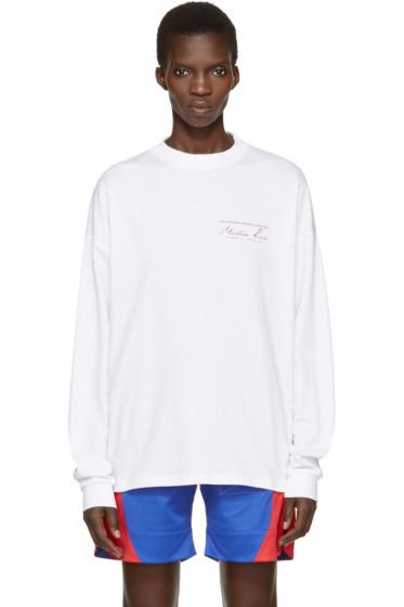Martine Rose - ホワイト ロゴ T シャツ