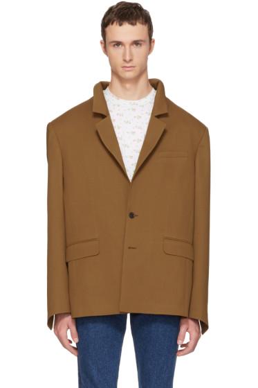 Y/Project - Brown Oversized Open Back Blazer