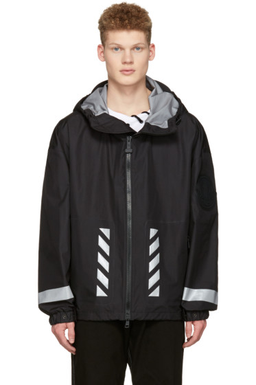Moncler O - Black Logo Windbreaker Jacket