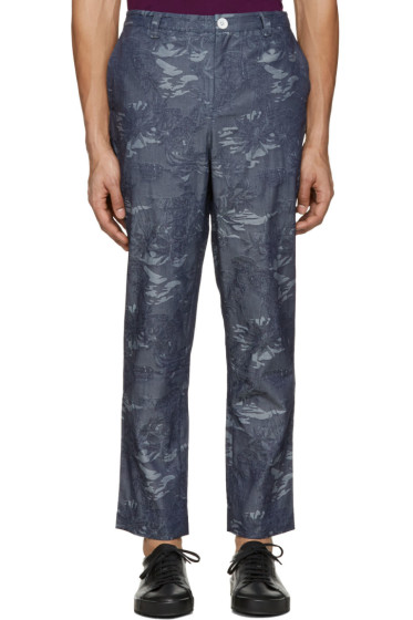 Rochambeau - Blue Chambray Pipe Trousers