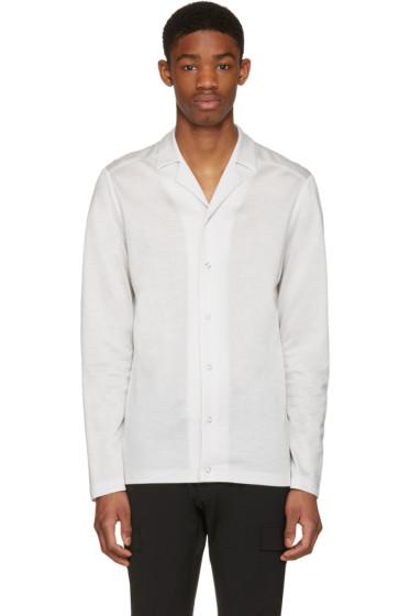 Philippe Dubuc - Off-White Pyjama Collar Shirt