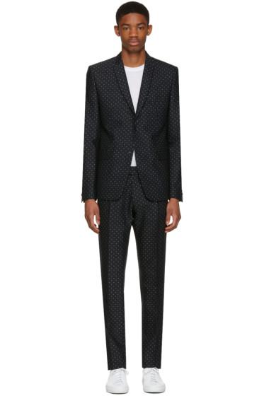 Philippe Dubuc - Black Classic Polka Dot Suit