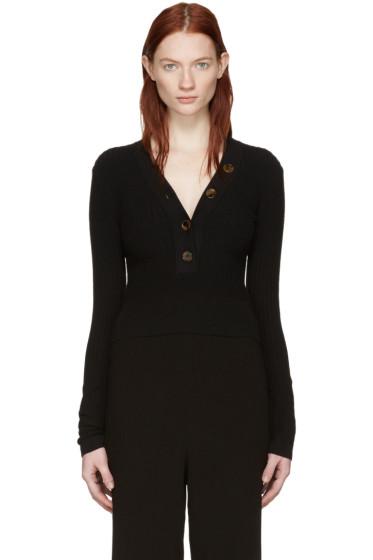 Khaite - Black Gloria V-Neck Sweater