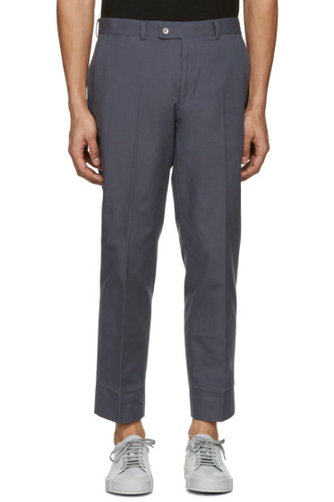 Childs - Grey False Hem Trousers