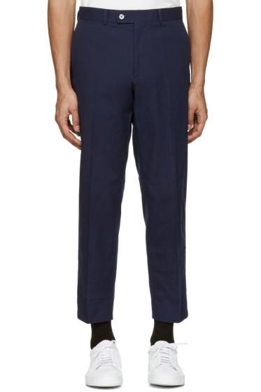 Childs - Navy False Hem Trousers