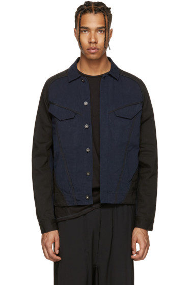 Abasi Rosborough - Indigo & Black Denim ARC Jacket
