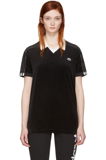 adidas Originals by Alexander Wang - Black Velour Polo