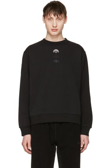 adidas Originals by Alexander Wang - Black Logo Crew Sweatshirt