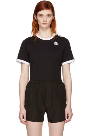 Kappa - SSENSE Exclusive Black & White Authentic Vale T-Shirt