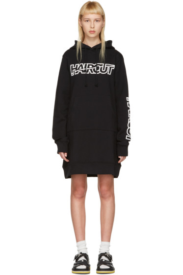 Ashley Williams - Black 'Haircut' Hoodie Dress