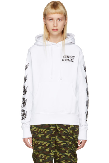 Ashley Williams - White Cherub Hoodie